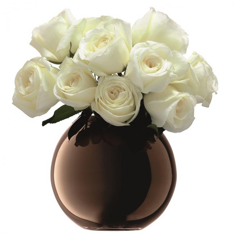 Spherical Vase Polka Copper H 16cm Home Accessories