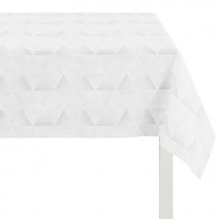 Pidulik valge laudlina hõbedase dekooriga.jpg
