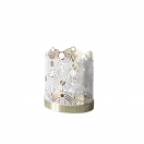 CANDLE HOLDER LUNAR SMALL (THE LONDON COLLECTION) - WHITE
