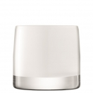 TEALIGHT HOLDER 'LIGHT COLOUR' - WHITE