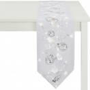 TABLE RUNNER 'CHRISTMAS ELEGANCE'  WHITE 48x140 CM