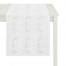 WHITE AND SILVER TABLE RUNNER  48x140 CM