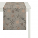 TABLE RUNNER 'SNOWFLAKES'- GREY 48x140 CM