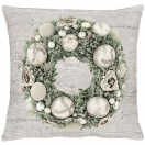 CUSHION COVER 'CHRISTMAS WREATH' 46x46 CM
