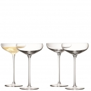 CHAMPAGNE SAUCER SET OF 4