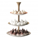 TIERED CAKESTAND 'POLKA'  H 37 CM
