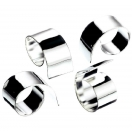 SET OF 4 SILVER-PLATED NAPKIN RINGS