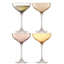 CHAMPAGNE / COKTAIL SAUCER 'POLKA' SET OF 4