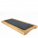 SLATE AND OAK WOOD SERVING PLATTER