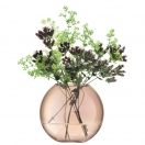 SPHERICAL VASE 'POLKA' - SHEER COPPER, H 11CM
