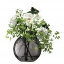 SPHERICAL VASE 'POLKA' - GREY, H 11CM
